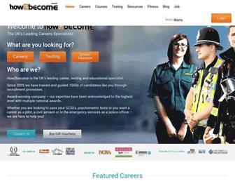 how2become.com screenshot