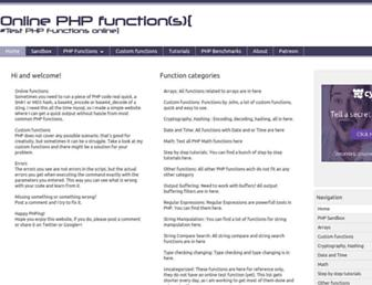 Thumbshot of Onlinephpfunctions.com