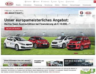 Main page screenshot of kia.at