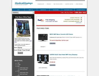 medicaldisplaysforless.com screenshot