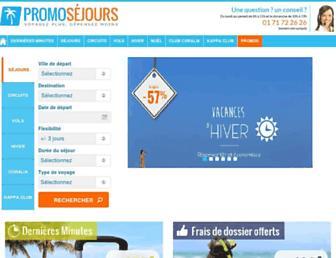promosejours.com screenshot
