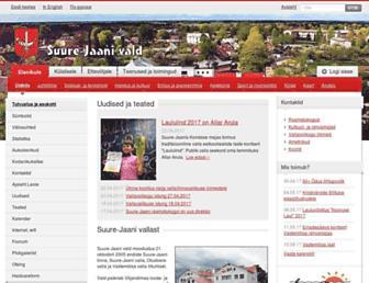 Main page screenshot of suure-jaani.ee