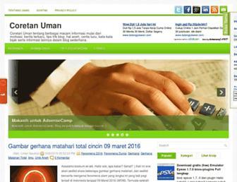 coretan-uman.blogspot.com screenshot