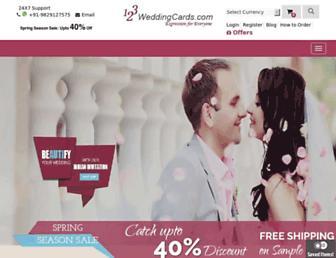 Thumbshot of 123weddingcards.com
