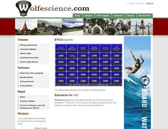 wolfescience.com screenshot