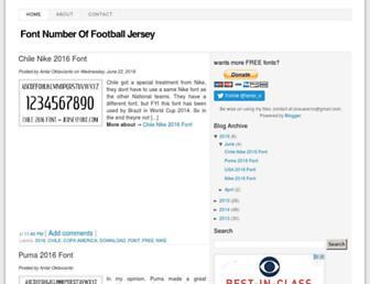 jerseyfont.com screenshot