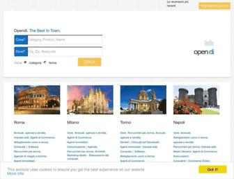 Main page screenshot of opendi.it