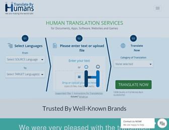 translatebyhumans.com screenshot