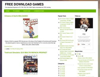 freedownloadgames4.blogspot.com screenshot