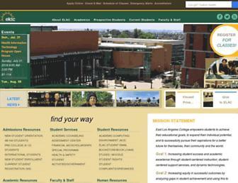 elac.edu screenshot