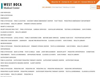 westbocamedctr.com screenshot