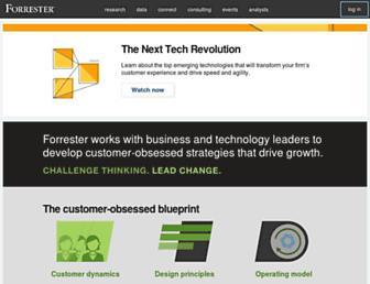 go.forrester.com screenshot