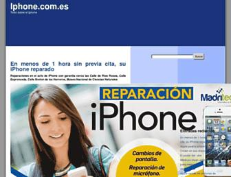 Main page screenshot of iphone.com.es
