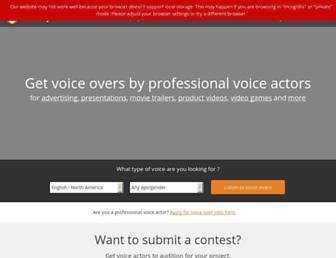 voicebunny.com screenshot