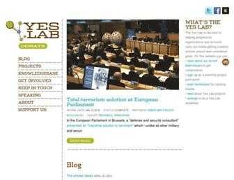 Main page screenshot of theyesmen.org