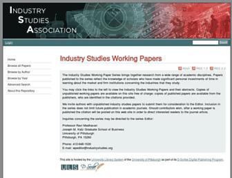 isapapers.pitt.edu screenshot