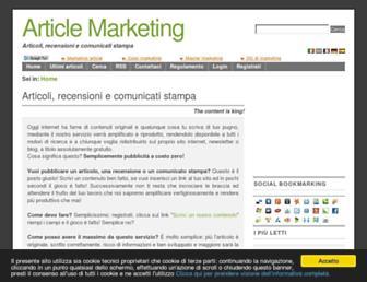 Main page screenshot of article-marketing.eu