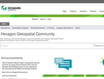 community.hexagongeospatial.com screenshot