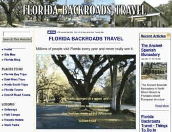florida-backroads-travel.com screenshot
