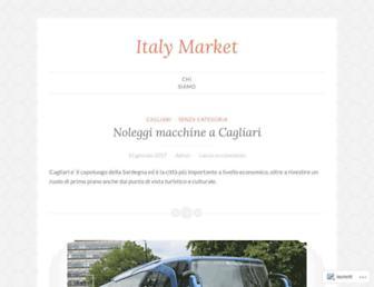 Main page screenshot of italymarket.net