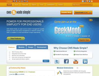 Thumbshot of Cmsmadesimple.org