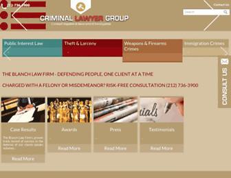 criminallawyergroup.com screenshot