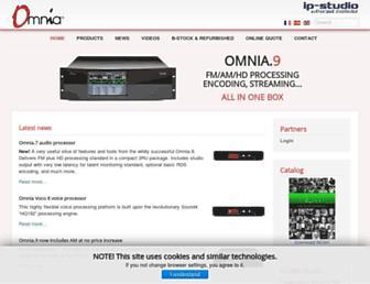 omniaaudio.eu screenshot