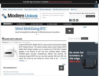 modemunlock.com screenshot