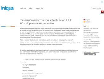 iniqua.com screenshot