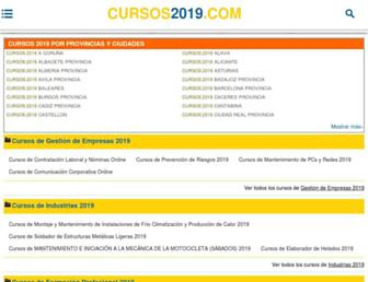 cursos2019.com screenshot