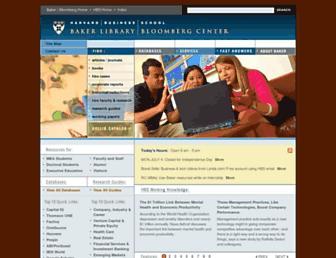 library.hbs.edu screenshot