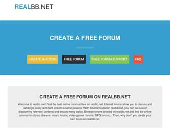 Main page screenshot of realbb.net