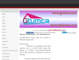 gtu-mca.weebly.com screenshot