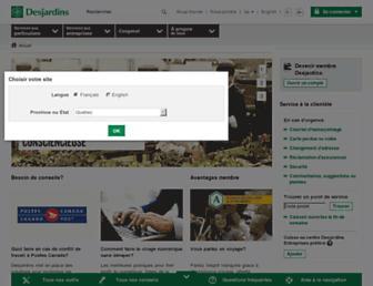 desjardins.com screenshot