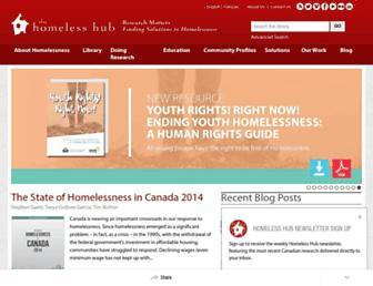 homelesshub.ca screenshot