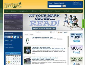 Main page screenshot of trlib.org