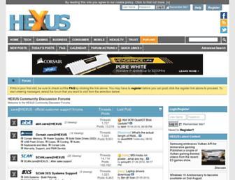 forums.hexus.net screenshot