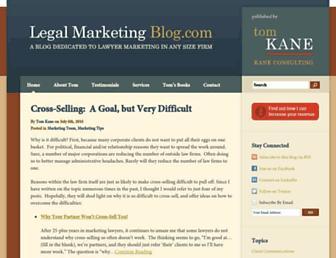 legalmarketingblog.com screenshot
