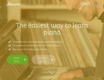 skoove.com screenshot