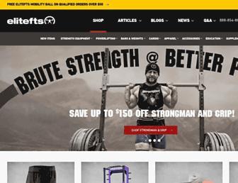 Main page screenshot of elitefts.net