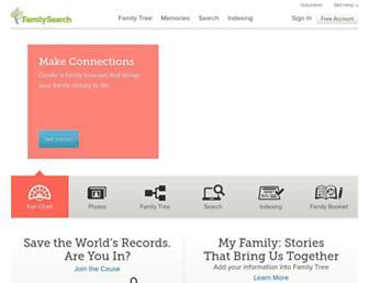 familysearch.org screenshot