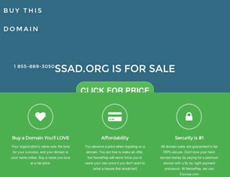 Main page screenshot of ssad.org