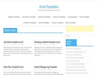 exceltemplatespro.com screenshot