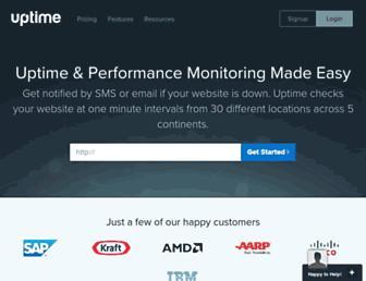 uptime.com screenshot