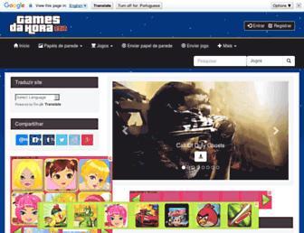 Main page screenshot of gamesdahora.com.br