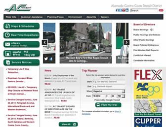 Main page screenshot of actransit.org