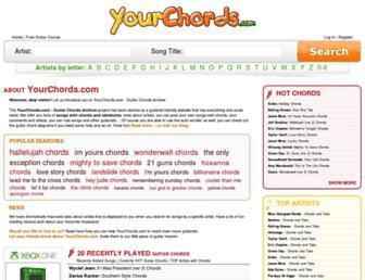 yourchords.com screenshot