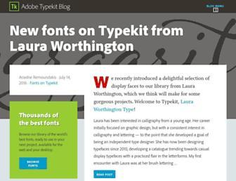 blog.typekit.com screenshot