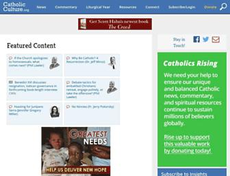 Main page screenshot of catholicculture.org