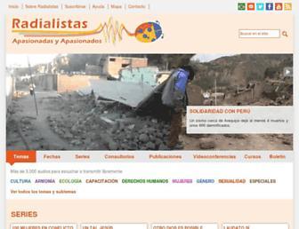 Main page screenshot of radialistas.net